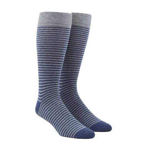 Thin Stripe Socks - Navy