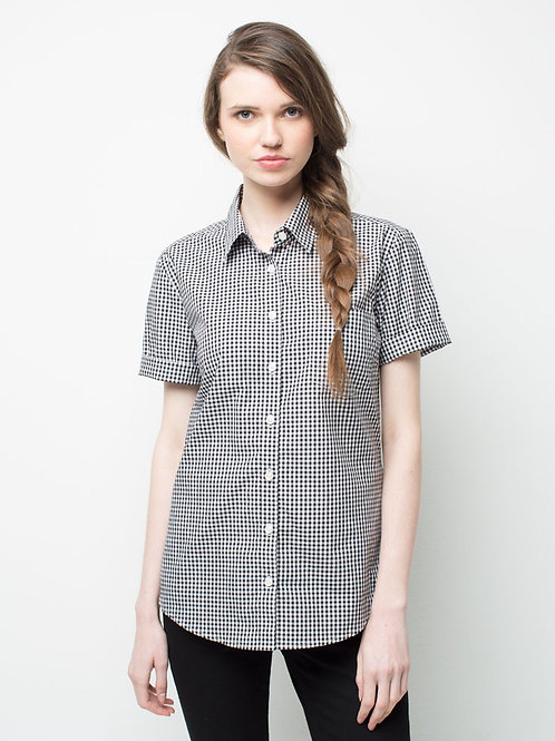 Max Check Short Sleeve Shirt - Black