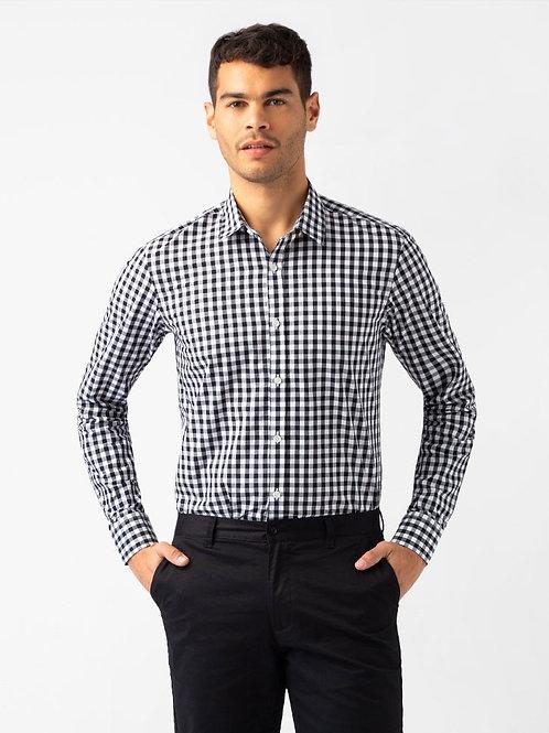 Frankie Long Sleeve Shirt - Black/White
