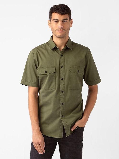 Military Short Sleeve Shirt - Khaki