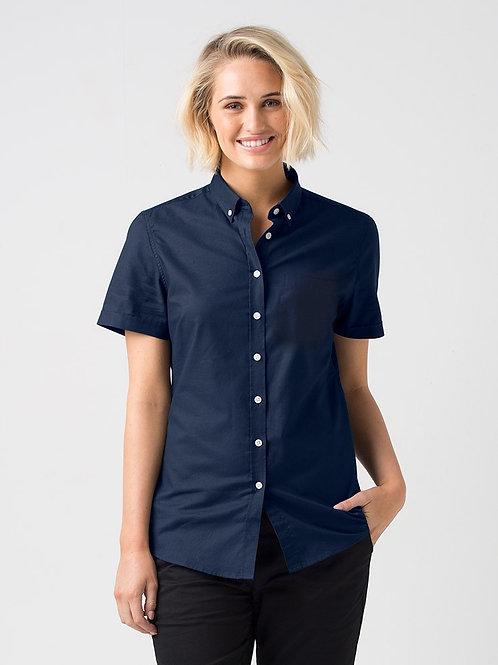 Smith Oxford Short Sleeve Shirt - Navy
