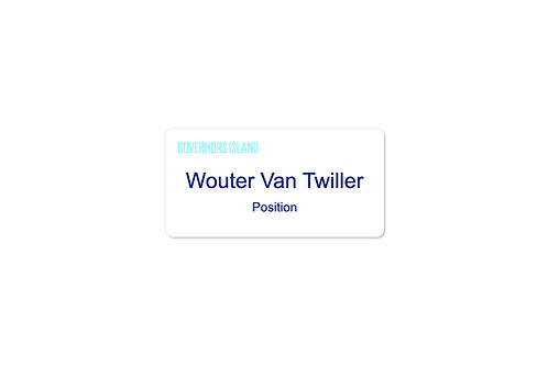 "1.5"" Name Badge - White"