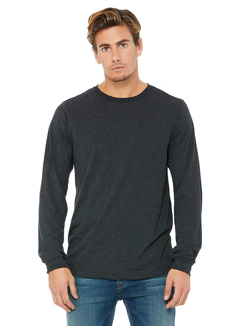 Jersey Long-Sleeve T-Shirt - Charcoal Black Triblend