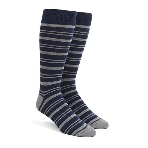 Path Stripe Socks - Navy