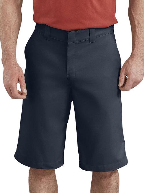Active Waist Flat Front Shorts - Dark Navy