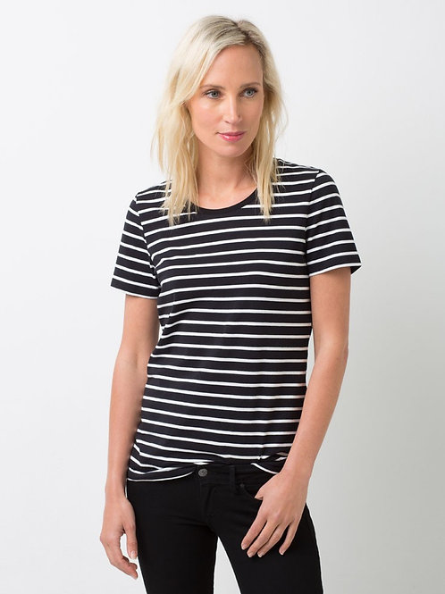 Riviera Striped T-Shirt - Black & White
