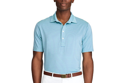Gents Classic Fit Performance Polo - Blue Stripe