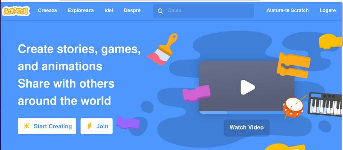 Activități pentru copii - Scratch