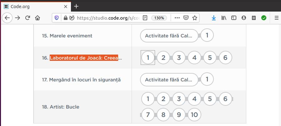 code.org exemplu curicula