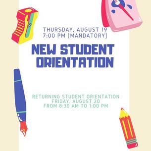 It's Orientation Time!