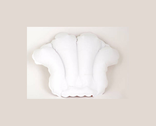 Terry Cloth Inflatable Bath Pillow
