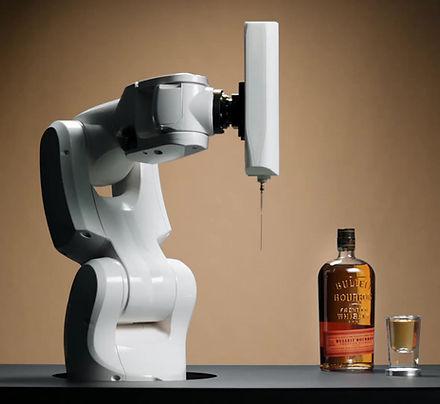 חדשנות באוכל: וויסקי בתלת מימד - רובוט מדפיס בתוך כוסית ויסקי