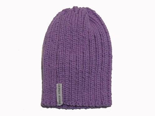 Lilac Ribbed Cap