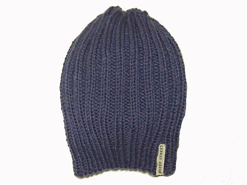 Purple Ribbed Hat
