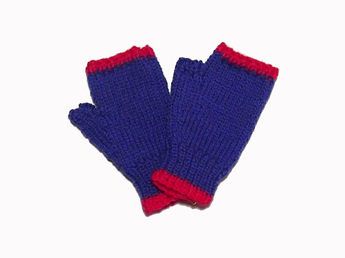 Purple and Pink Steptoe Gloves