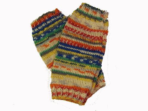 Multi-coloured Fingerless Gloves