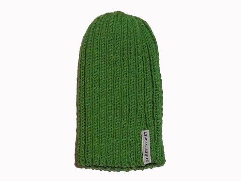 Green Ribbed Beanie