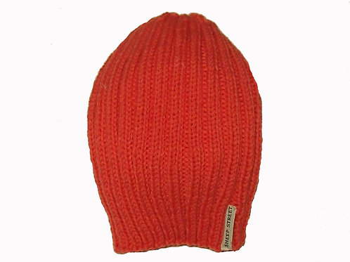 Coral Ribbed Hat