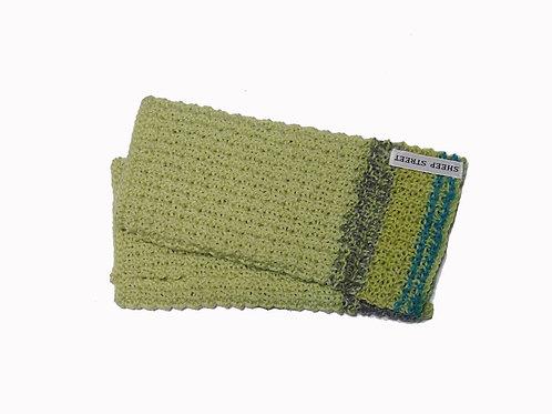 Blue, Green and Grey Fingerless Gloves