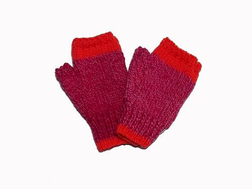 Pink Marle and Orange Steptoe Gloves
