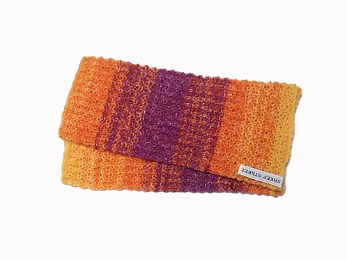 Orange, Yellow and Purple Variegated Fingerless Gloves