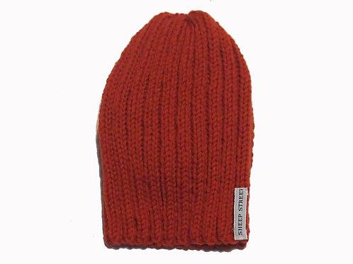 Burnt Orange Ribbed Cap