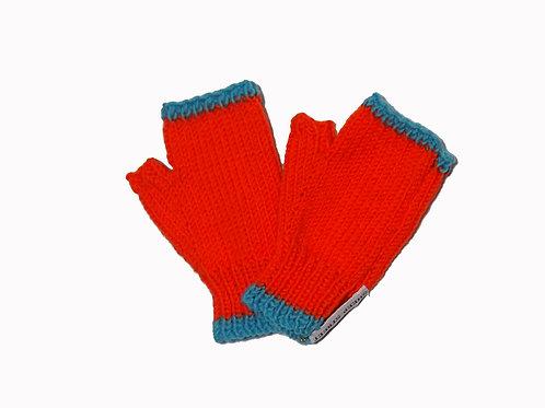 Orange and Aqua Steptoe Gloves
