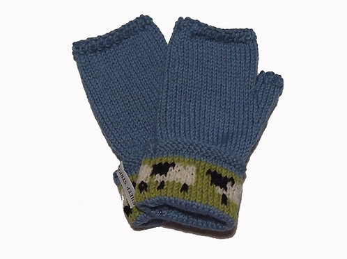 Forget-Me-Not Gloves with Cuff