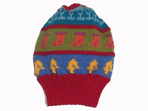 Adults Red Slouch Beanie