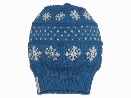 Adults Blue Slouch Beanie