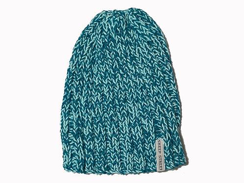 Green/Pale Blue Cotton Hat