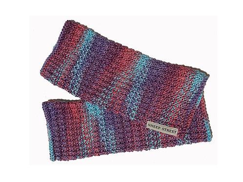 Pink, Aqua and Purple Fingerless Gloves