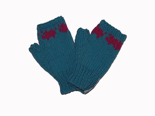 Aqua Steptoe Gloves