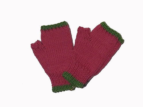 Pink and Green Steptoe Gloves
