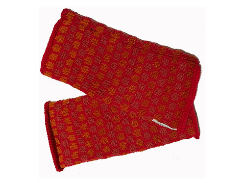 Red Dragon Scales Fingerless Gloves