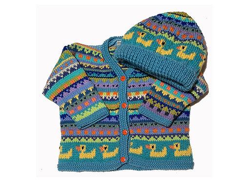 Size 6-12 Months - Light Blue Band Cardigan