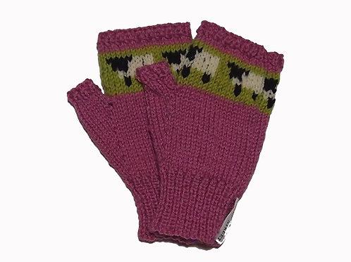 Rose Fingerless Gloves