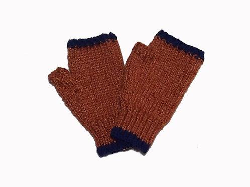 Bronze and Navy Steptoe Gloves