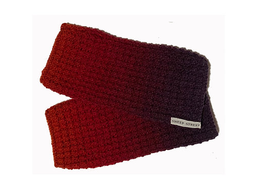 Purple, Red and Orange Fingerless Gloves