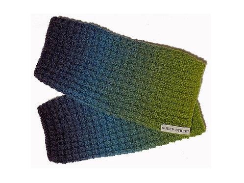 Green and Blue Fingerless Gloves