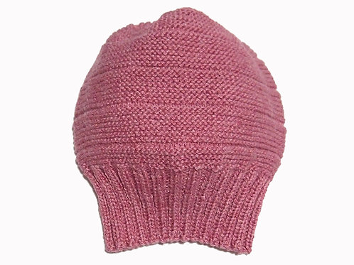 Lolly Pink Slouch Beanie