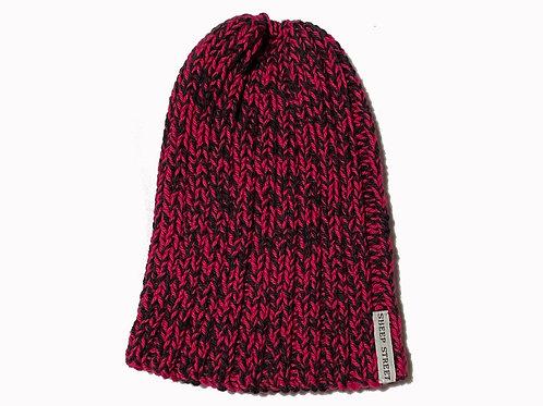 Black/Deep Pink Cotton Hat