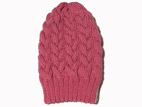 Pink cabled Beanie