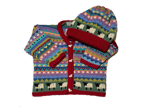 Size 6-12 Months - Red Band Cardigan