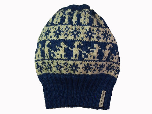 Blue Nordic Slouch Beanie - Adult