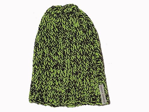 Black/Lime Cotton Hat