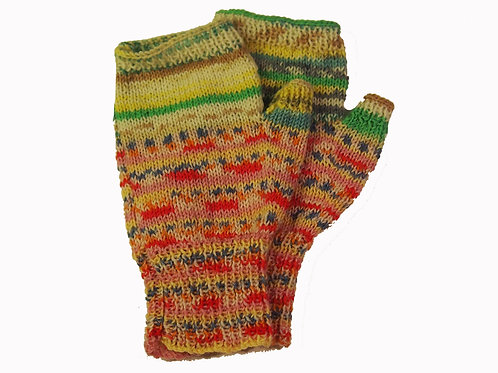 """Pink and Green """"Ugly"""" Fingerless Gloves"""