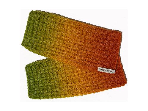 Orange, Yellow and Green Fingerless Gloves