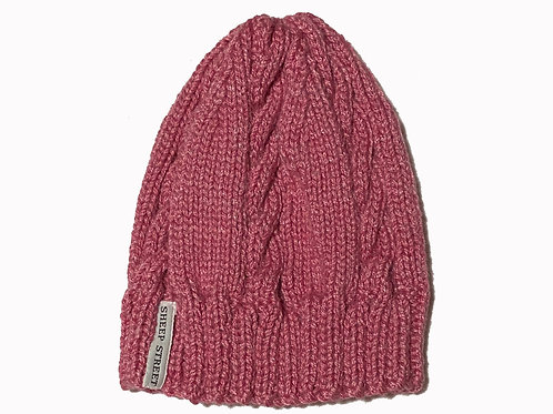 Pink cabled Cap