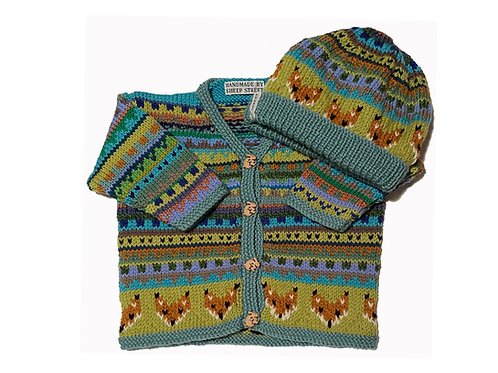 Size 6-12 Months - Pale Green Band Cardigan